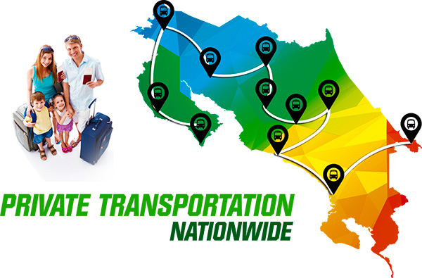 Private Transportation and Shuttles Nationwide Costa Rica